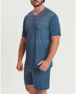 Pijama-Masculino-Curto-Recco-Microfibra-Amni-Listras
