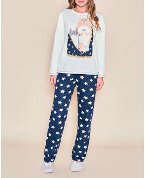 Pijama-Feminino-Moletinho-Flanelado-Lua-Cheia-Estrelas
