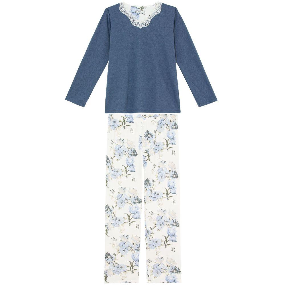 Pijama-Feminino-Moletinho-Flanelado-Lua-Cheia-Floral