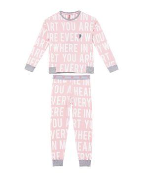 Pijama-Infantil-Feminino-Lua-Lua-Cotton-Punho-Letras