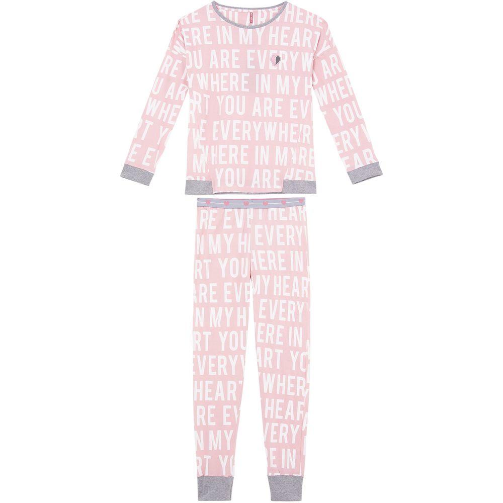 Pijama-Feminino-Longo-Lua-Lua-Cotton-Punho-Letras