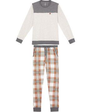 Pijama-Masculino-Lua-Lua-Calca-Mercerizada-Xadrez