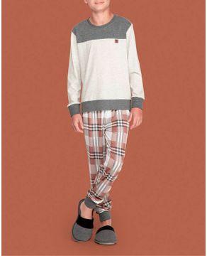 Pijama-Infantil-Masculino-Lua-Lua-Calca-Xadrez