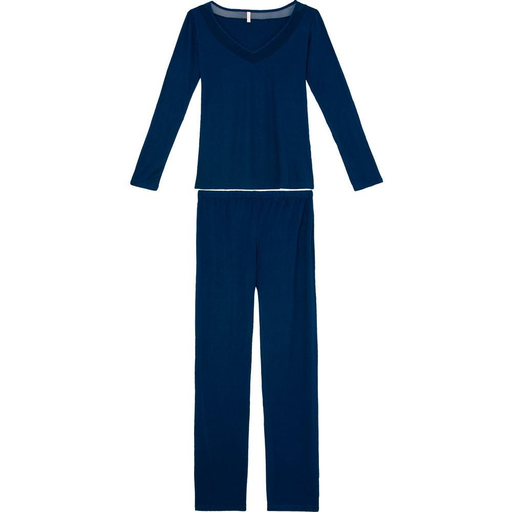 Pijama-Feminino-Longo-Joge-Malha-Tule