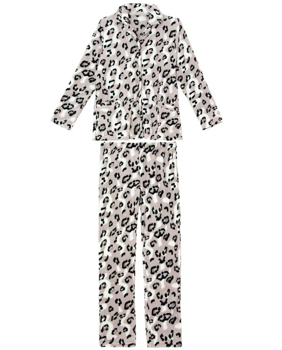 Pijama-Feminino-Aberto-Daniela-Tombini-Fleece-Onca