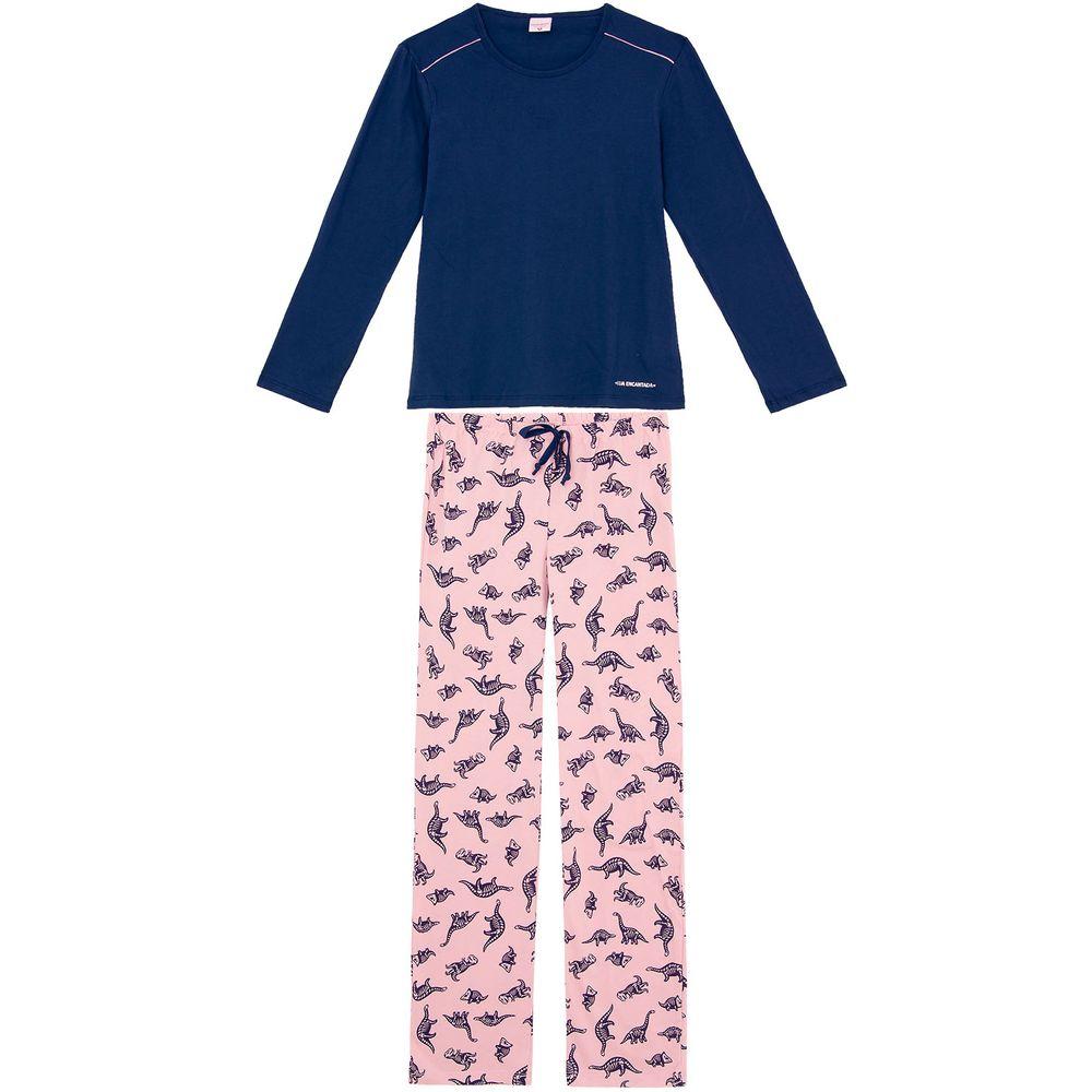 Pijama-Feminino-Lua-Encantada-Algodao-Dinossauros