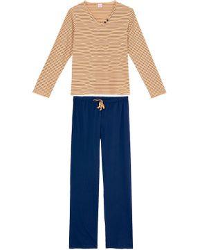 Pijama-Feminino-Longo-Lua-Encantada-Algodao-Listras
