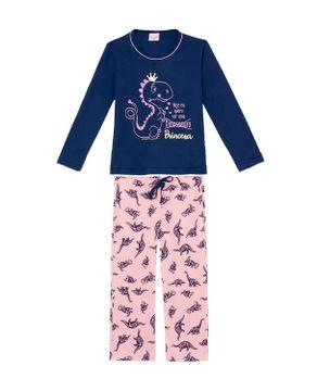Pijama-Infantil-Feminino-Lua-Encantada-Dinossauros