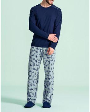 Pijama-Masculino-Lua-Encantada-Algodao-Dinossauros