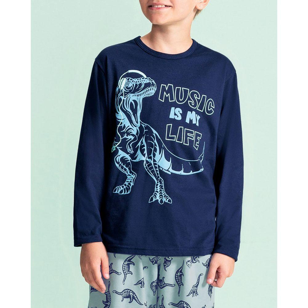 Pijama-Infantil-Masculino-Lua-Encantada-Dinossauros
