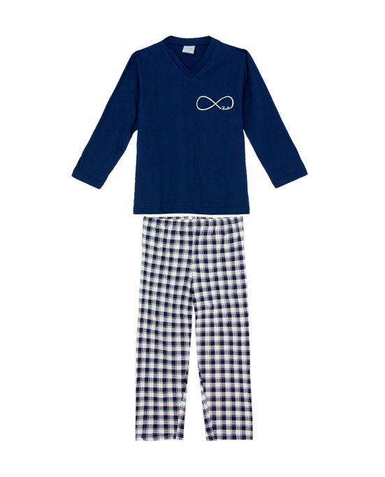 Pijama-Infantil-Masculino-Lua-Encantada-Calca-Xadrez