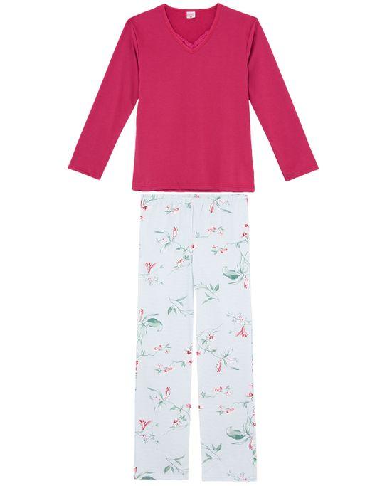 Pijama-Feminino-Lua-Encantada-Moletinho-Calca-Floral