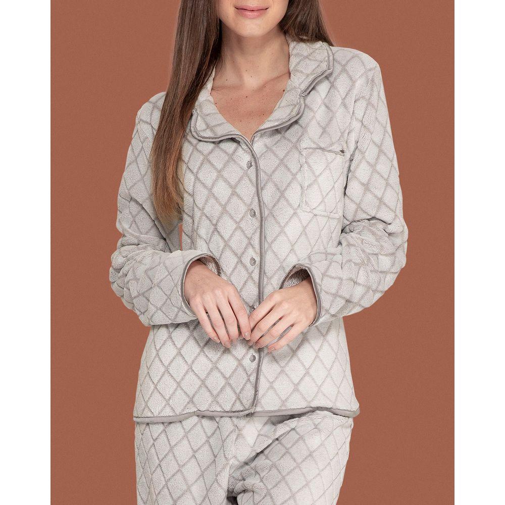 Pijama-Feminino-Aberto-Lua-Lua-Fleece-Matelasse