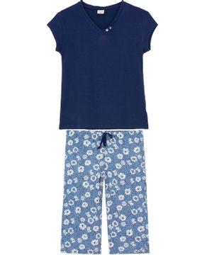 Pijama-Capri-Lua-Encantada-Modal-Algodao-Floral