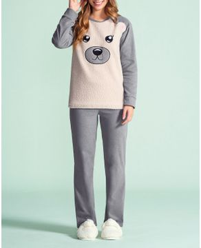 Pijama-Feminino-Lua-Encantada-Soft-Urso-Peluciado