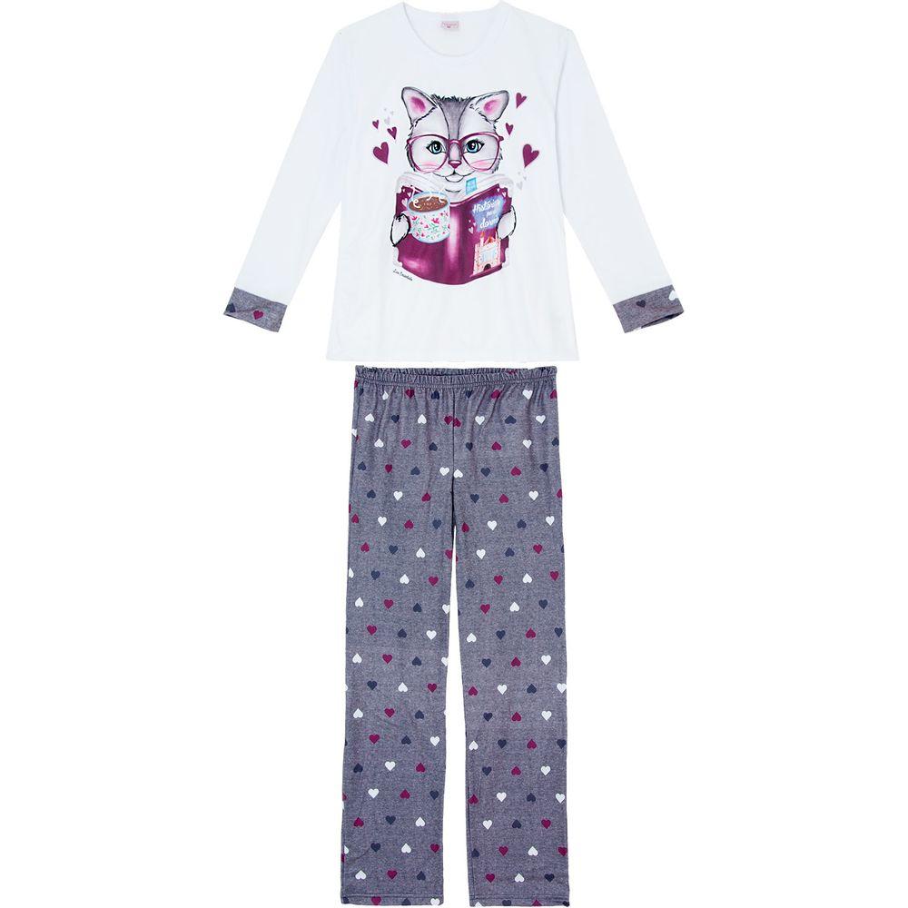 Pijama-Feminino-Soft-Lua-Encantada-Gato