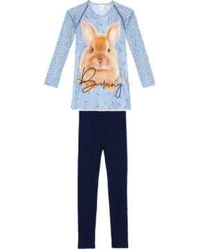Pijama-Feminino-Toque-Poliplex-Coelho-Calca-Ribana