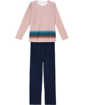 Pijama-Plus-Size-Feminino-Toque-Molecotton-Losangos