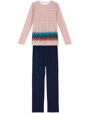 Pijama-Feminino-Longo-Toque-Molecotton-Losangos