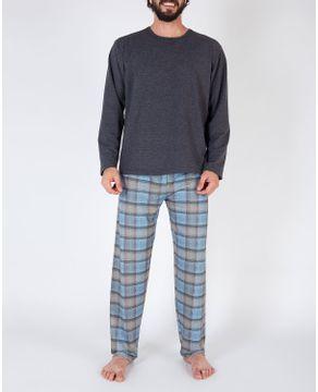 Pijama-Masculino-Toque-Molecotton-Calca-Xadrez