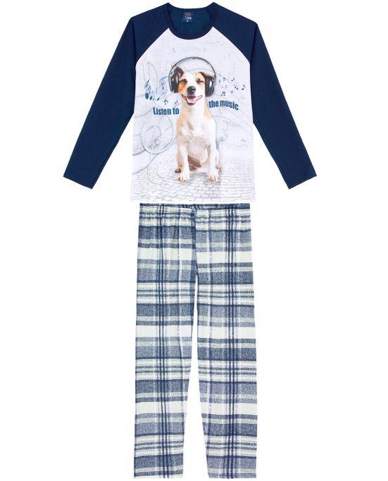 Pijama-Masculino-Longo-Toque-Moletinho-Cachorro