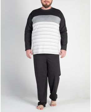 Pijama-Plus-Size-Masculino-Longo-Toque-Recorte-Listras