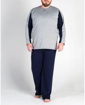 Pijama-Plus-Size-Masculino-Toque-Flanelado-Recorte