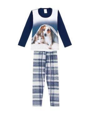 Pijama-Infantil-Feminino-Toque-Moletinho-Cachorro