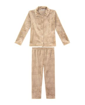 Pijama-Infantil-Feminino-Aberto-Toque-Fleece-Ursos