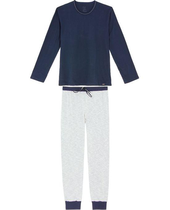 Pijama-Masculino-Recco-Calca-Malha-Flame-com-Punho