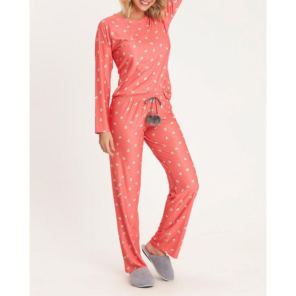 Pijama-Feminino-Longo-Recco-Cetim-Flanelado-Ovo-Frito