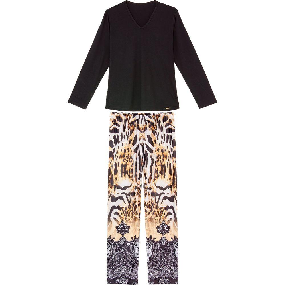 Pijama-Feminino-Longo-Recco-Viscolycra-Animal-Print