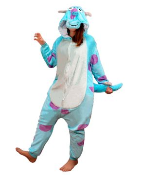 Pijama-Fantasia-Sulley-Monstros-S.A.-Kigurumi