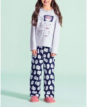 Pijama-Infantil-Feminino-Lua-Encantada-Algodao-Gatos