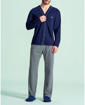 Pijama-Masculino-Aberto-Lua-Encantada-Calca-Algodao