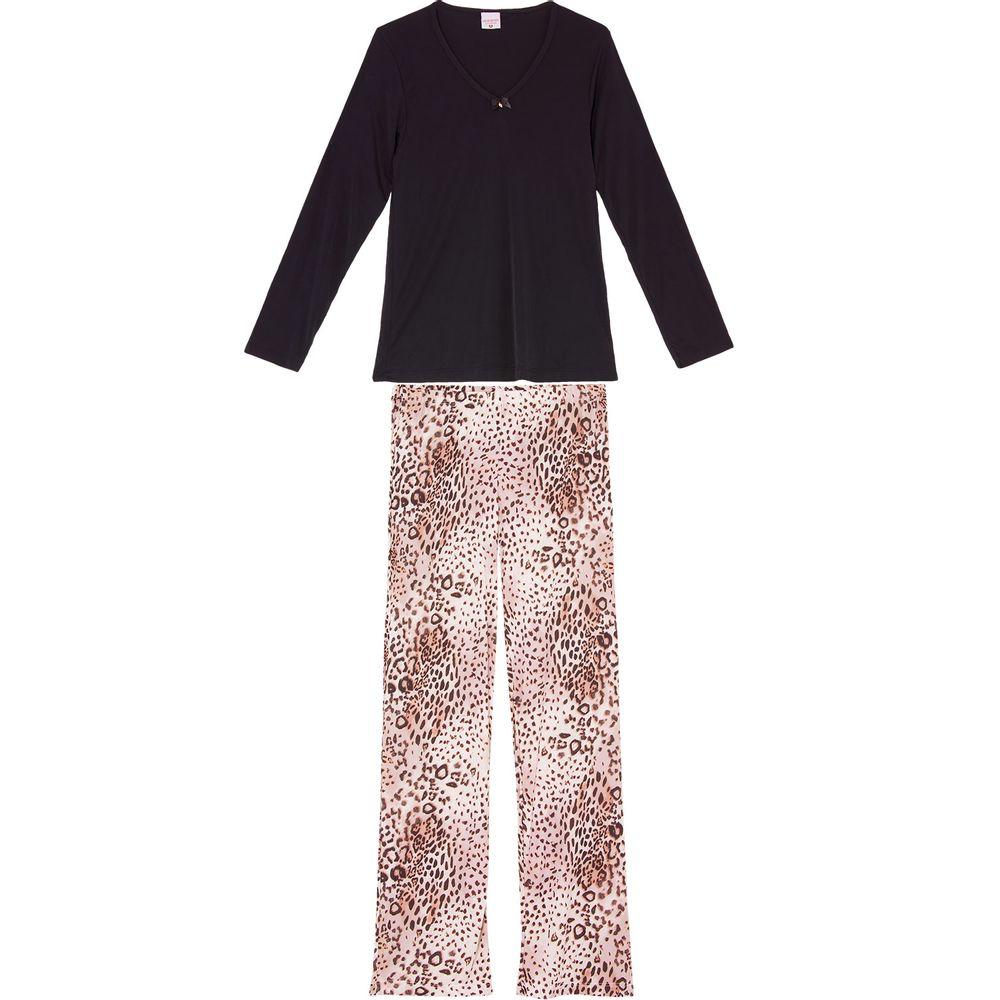 Pijama-Feminino-Lua-Encantada-Malha-Fria-Calca-Onca