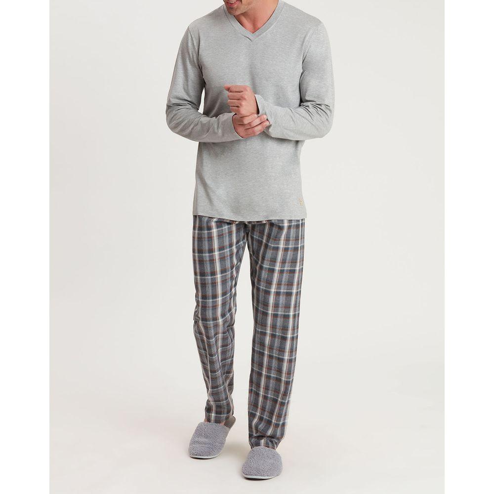 Pijama-Masculino-Recco-Viscolycra-Calca-Flanela-Xadrez