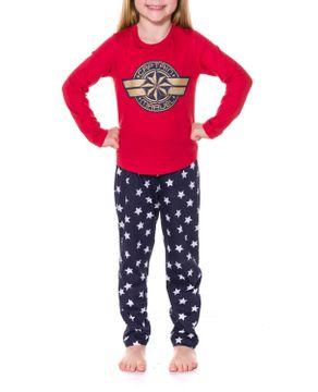 Pijama-Infantil-Feminino-Capita-Marvel-Calca-Estrelas