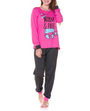 Pijama-Feminino-Daisy-Days-Algodao-Punhos-Frio