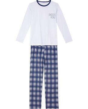 Pijama-Masculino-Algodao-Borth-Boys-Calca-Xadrez
