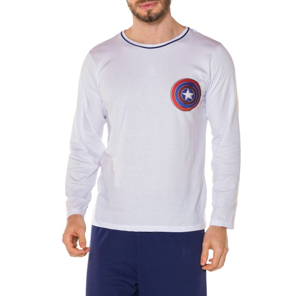 Pijama-Masculino-Algodao-Marvel-Capitao-America