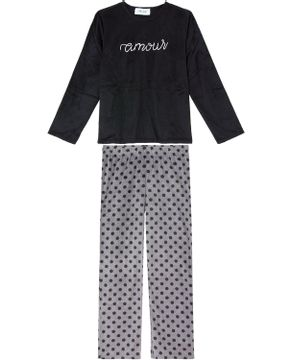 Pijama-Feminino-Any-Any-Soft-Amour-Calca-Poa