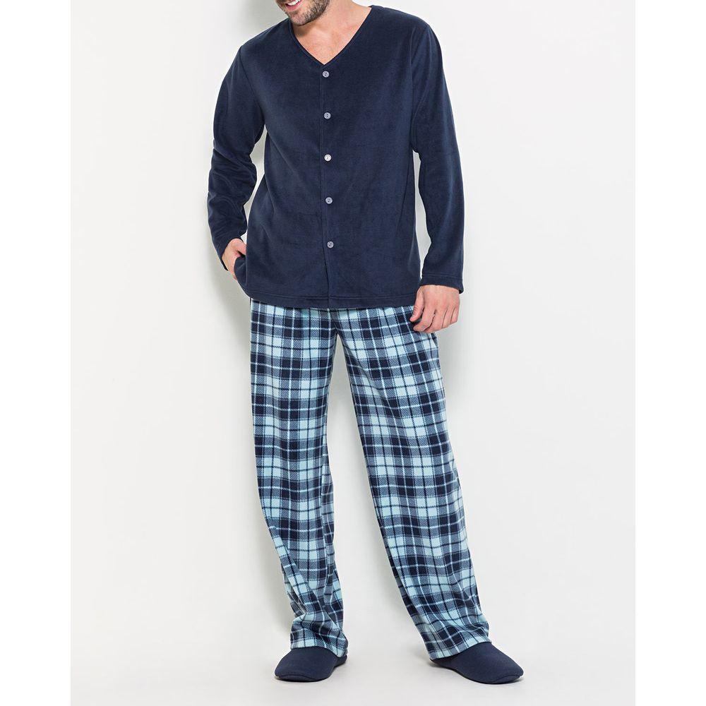 Pijama-Masculino-Aberto-Any-Any-Soft-Calca-Xadrez