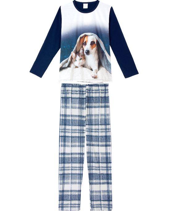 Pijama-Feminino-Toque-Moletinho-Flanelado-Cachorro