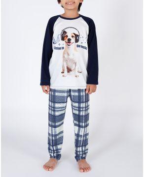 Pijama-Infantil-Masculino-Toque-Flanelado-Cachorro