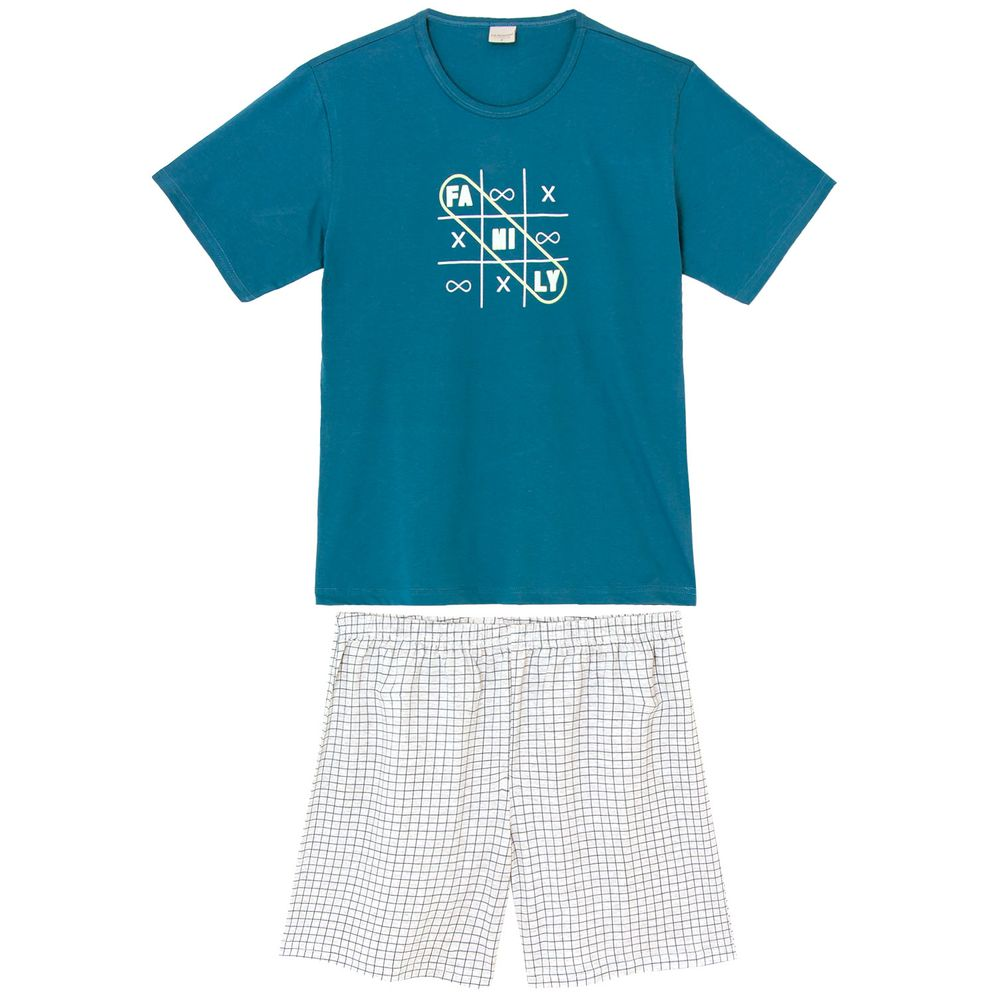Pijama-Curto-Masculino-Lua-Encantada-Algodao-Family
