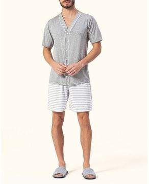 Pijama-Masculino-Aberto-Curto-Lua-Encantada-Listras