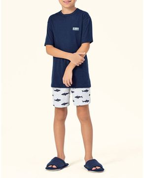 Pijama-Infantil-Masculino-Lua-Encantada-Short-Tubarao