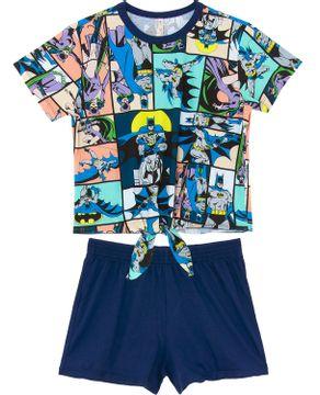 Pijama-Curto-Feminino-Acuo-Algodao-Batman