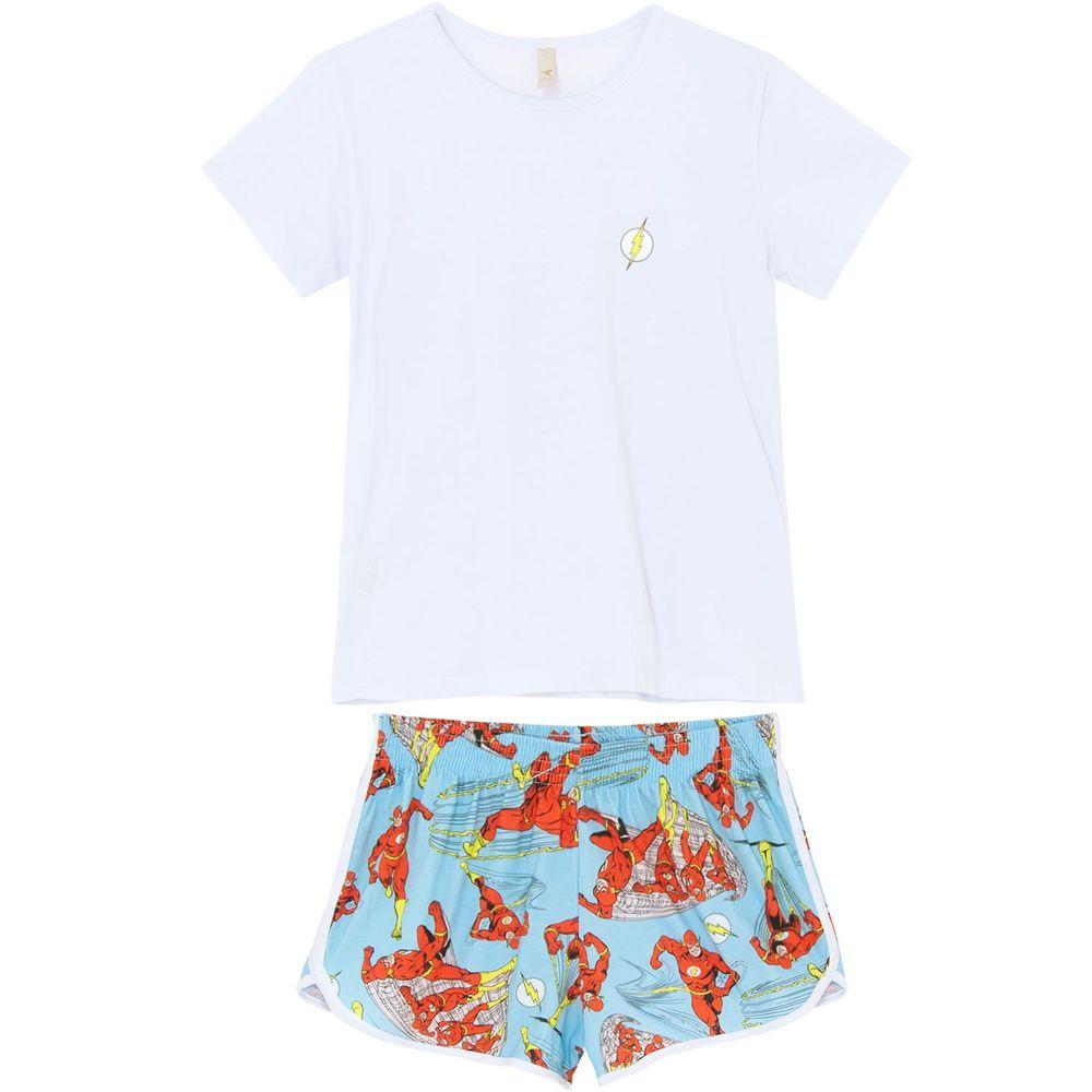 Pijama-Curto-Feminino-Acuo-Algodao-The-Flash